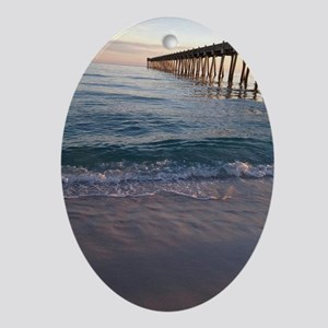 Pensacola Pier Oval Ornament