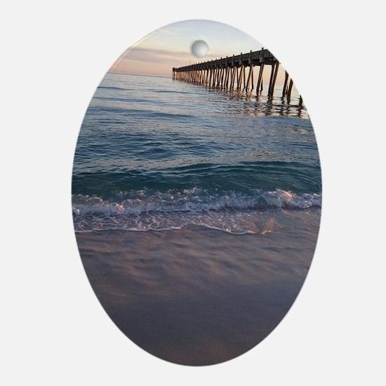 Pensacola Pier Oval Ornament