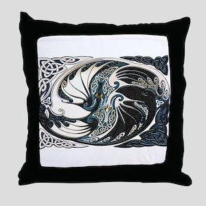 Harvest Moons Yin Yang Dragons Throw Pillow