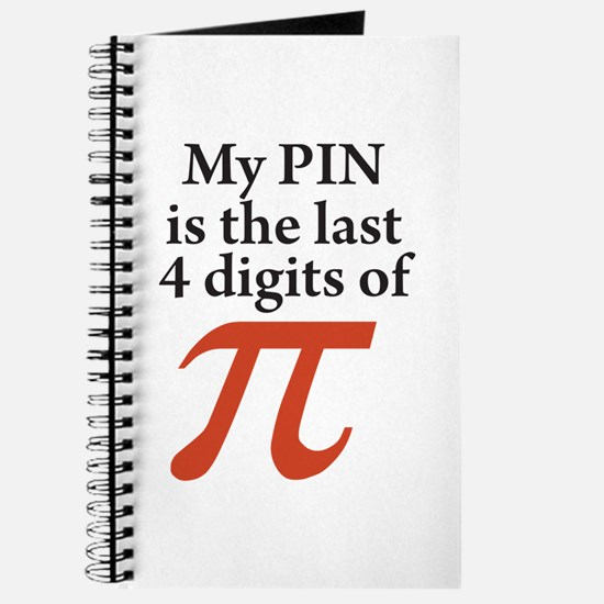My PIN is the last 4 digits of PI Journal