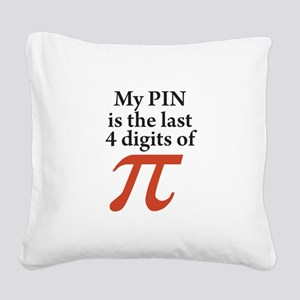 My PIN is the last 4 digits of PI Square Canvas Pi