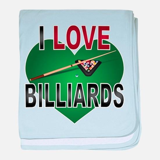 Love Billiards baby blanket