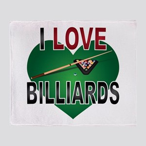 Love Billiards Throw Blanket
