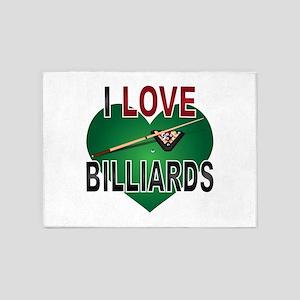 Love Billiards 5'x7'Area Rug