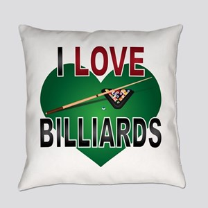 Love Billiards Everyday Pillow