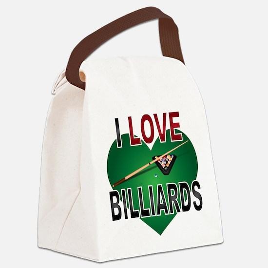 Love Billiards Canvas Lunch Bag