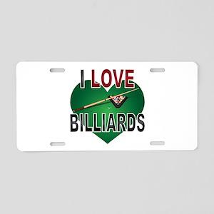 Love Billiards Aluminum License Plate