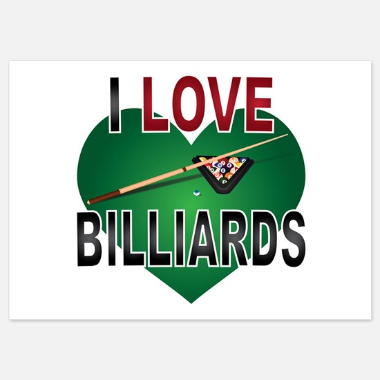 Love Billiards 5x7 Flat Cards