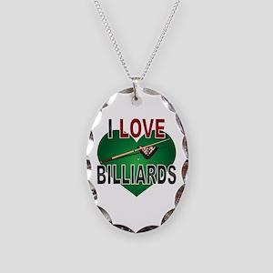 Love Billiards Necklace Oval Charm