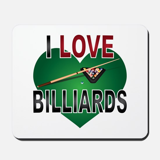 Love Billiards Mousepad
