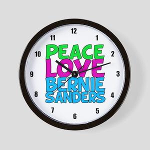 Bernie Sanders Love Wall Clock
