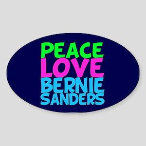 Bernie Sanders Love Sticker (Oval)