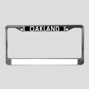Oakland Black Oval License Plate Frame