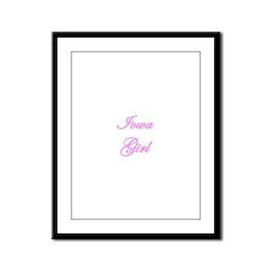 Iowa Girl Framed Panel Print