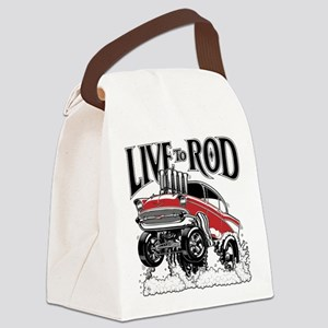 LIVE TO ROD 1957 Gasser Canvas Lunch Bag