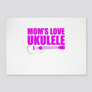 Mother's Day Ukulele 5'x7'Area Rug