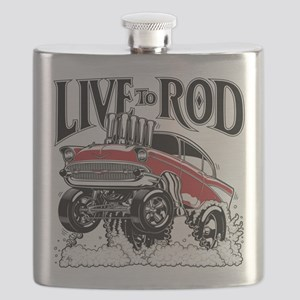 LIVE TO ROD 1957 Gasser Flask