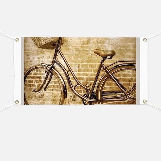 romantic street vintage bike Banner