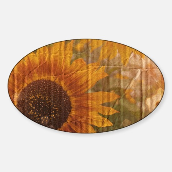 rustic western country sunflower Decal