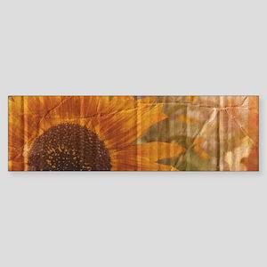 rustic western country sunflower Bumper Sticker
