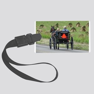 Amish Wagon Large Luggage Tag