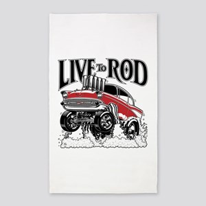 LIVE TO ROD 1957 Gasser Area Rug