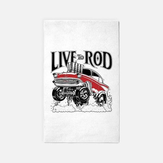 LIVE TO ROD 1957 Gasser Area Rug