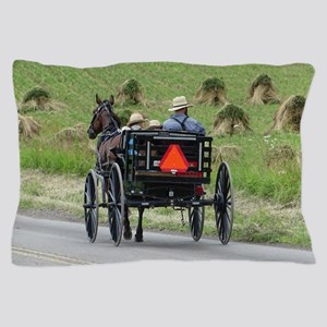 Amish Wagon Pillow Case
