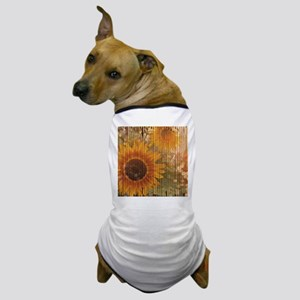 rustic western country sunflower Dog T-Shirt