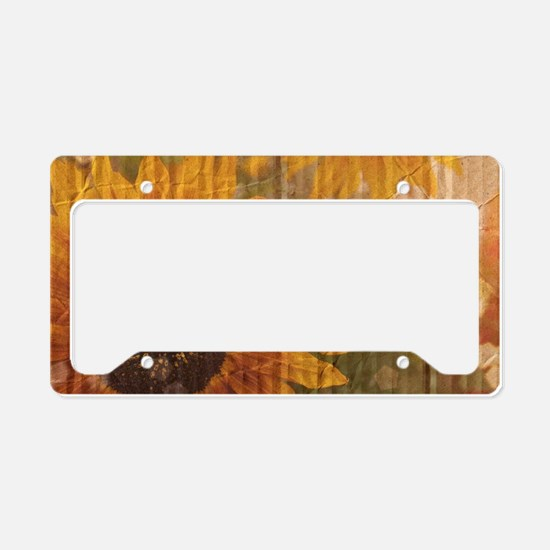 rustic western country sunflo License Plate Holder