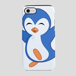 Happy Blue Baby Penguin iPhone 8/7 Tough Case