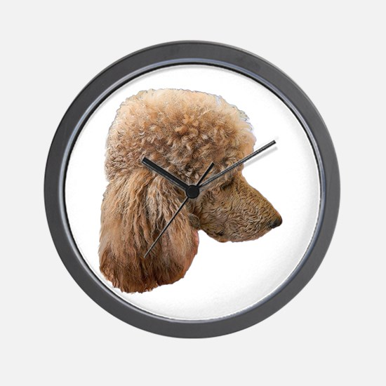 Funny Red poodle Wall Clock