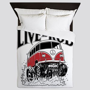 LIVE TO ROD 1964 Microbus Queen Duvet