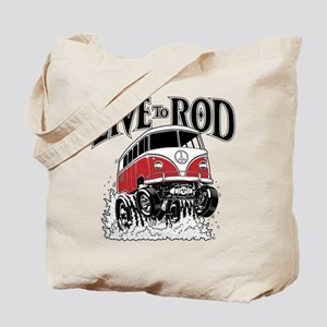 LIVE TO ROD 1964 Microbus Tote Bag