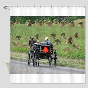 Amish Wagon Shower Curtain