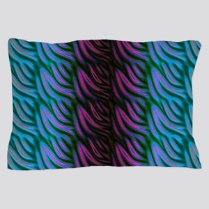 Funky Blue Green Pink Pattern Pillow Case