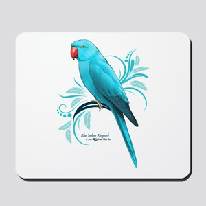 Blue Indian Ringneck Parrot Mousepad