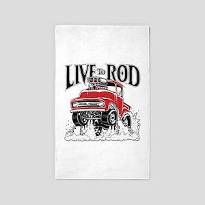 LIVE TO ROD 1956 F100 Gasser Area Rug