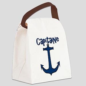 Capitaine ancre de bateau Canvas Lunch Bag