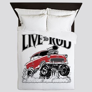 LIVE TO ROD 1955 Gasser Queen Duvet