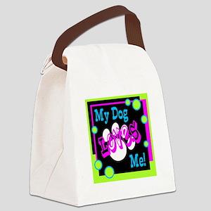 My Dog Canvas Lunch Bag