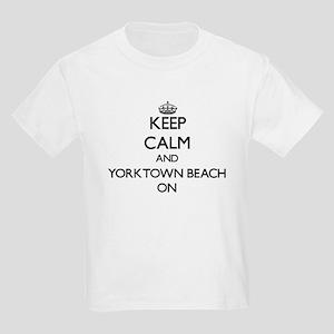 Keep calm and Yorktown Beach Virginia ON T-Shirt