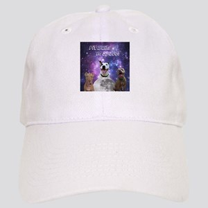 Pit Bulls In Space with Caption Baseball Cap
