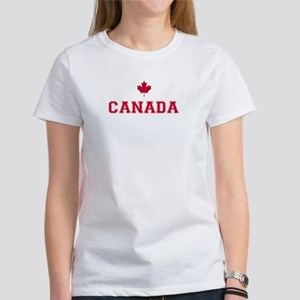 Red Canada White Background T-Shirt