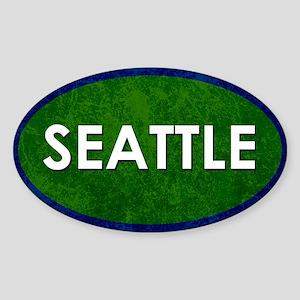 Seattle White Green Stone Sticker