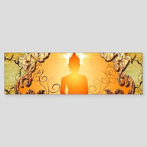 Buddha in the sunset Bumper Sticker