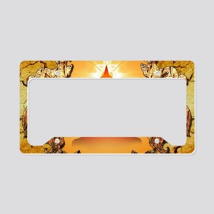 Buddha in the sunset License Plate Holder