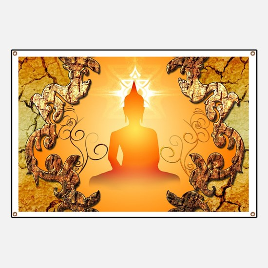 Buddha in the sunset Banner