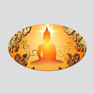 Buddha in the sunset Wall Decal