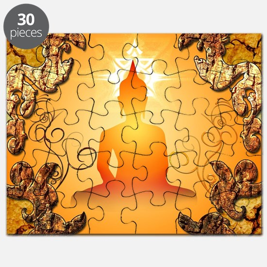 Buddha in the sunset Puzzle